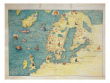 Northern Europe  from an Atlas of the World in 33 Maps  Venice  1st September 1553