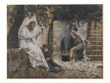 Mary Magdalene at the Feet of Jesus  Illustration from &#39;The Life of Our Lord Jesus Christ&#39;  1886-94