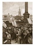 Public Meeting in Trafalgar Square in Commemoration of 'Bloody Sunday'  1892