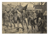 General Strike in Belgium-Miners' March in the Hainut  from 'Le Petit Parisien'  17th May 1891