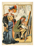 Phryne: Caricature of an Artist's Model  from the Back Cover of 'Le Rire'  23rd February 1907