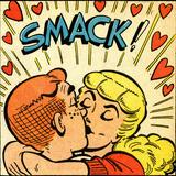 Archie Comics Retro: Archie and Betty Comic Panel; Smack! (Aged)