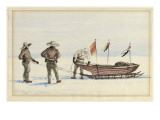 The Sledge Party to White Island  February 1902: Shackleton  Wilson and Ferrar Preparing to Set Out