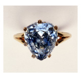 Antique Fancy-Cut Ring  the Blue-Grey Diamond Weighing 545 Carats  Once Owned by Marie-Antoinette