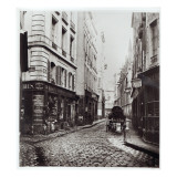Rue Saint-Severin  from the Rue De La Harpe  Paris  1858-78