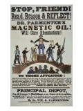 Advertisement for 'Doctor Parmenter's Magnetic Oil'  1840S
