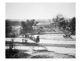 Covered Wagon Crossing Tecolate Creek  New Mexico  1867