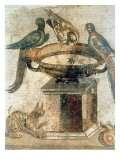 Birds and an Ambushing Cat  from Pompeii  1st Century Ad