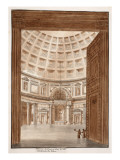 Interior of the Pantheon after the Tiber Broke its Banks  1833
