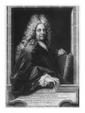 Antoine Coypel  after a Self Portrait  Engraved by Jean Baptiste Masse