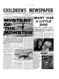 Mystery of the Monster  Front Page of 'The Children's Newspaper'  March 1963
