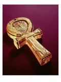 Mirror Case in the Form of an Ankh  from the Tomb of Tutankhamun
