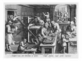 The Invention of Copper Engraving  Plate 20 from &#39;Nova Reperta&#39;