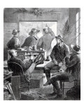 A Kansas Land Office  from 'Harper's Weekly'  11th July 1874