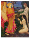The Angel Offering the Fruits of the Garden of Eden to Adam and Eve