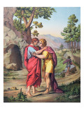 The Parting of David and Jonathan  Illustration from a Catechism  C1860