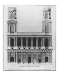 Church of Saint-Sulpice  Elevation of the Facade  Paris  1782