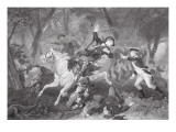 Death of Patrick Ferguson at the Battle of King's Mountain  7 October 1780