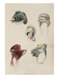 Day Bonnets  Fashion Plate from Ackermann's Repository of Arts
