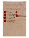 Marriage Certificate of Wolfgang Amadeus Mozart and Constanze Weber  1782