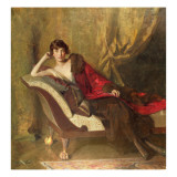 Countess Michael Karolyi  Reclining in a Divan  1918