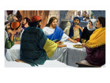 Christ with Mary Magdalene and Some Disciples Taking a Meal Together