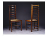 Two Ladder Back Chairs  for Miss Cranston's Tea Rooms  Glasgow  C1903