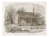 Home of Lincoln at Gentryville  Indiana  from a Book Pub 1896