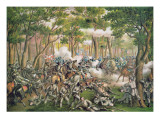 Battle of the Wilderness  May 1864  Engraved by Kurz and Allison  1887