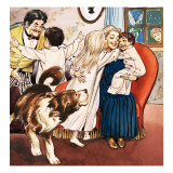 The Darling Family  Illustration from 'Peter Pan' by JM Barrie