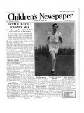Roger Bannister  Front Page of &#39;The Children&#39;s Newspaper&#39;  1954