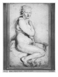 Young Nude Woman  Seated  Turned to the Right