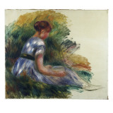Alice Gamby in the Garden  Young Girl Sitting in the Grass  1891
