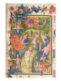 The Baptism of Christ  Historiated Initial 'H'