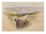 The Dead Sea Looking Towards Moab  April 4th 1839  Plate 50