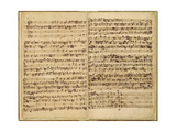 Pages from Score of the 'st Matthew Passion'  1727