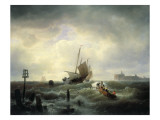 The Entrance to the Harbour at Hellevoetsluys  1850
