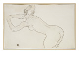 Female Nude Kneeling and Bending Forward to the Left  1918