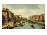 The Grand Canal Near the Rialto Bridge  Venice  C1730