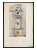 Study of a Jesuit Altar  Certosa Di Pavia  1891