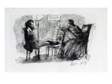Rossetti Being Sketched by Elizabeth Siddal  September 1853