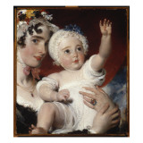 Priscilla  Lady Burghesh  Holding Her Son  the Hon George Fane  1820