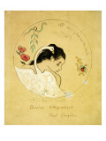 Design for a Plate - Leda and the Swan  1889