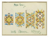 A Sheet of Studies of Mosaic Bands  Orvieto Cathedral  1891