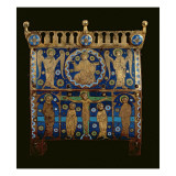 Reliquary Casket  Decorated with Enamel Plaques Depicting the Crucifixion