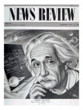 Albert Einstein on the Cover of &#39;News Review&#39;  16th May 1946