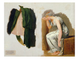 A Green Toga and Camille  Study for 'The Oath of the Horatii'