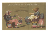 American Family'  Advertisement for James Kirk and Co Soap Makers  C1880