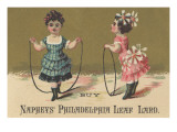 Advertisement for Naphey's Philadelphia Leaf Lard  C1880