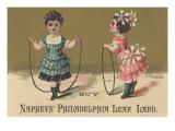 Advertisement for Naphey's Philadelphia Leaf Lard  C1880